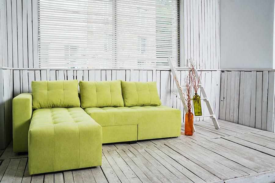 Ортопедичний кутовий диван «Джордан», Q lime, правий кут