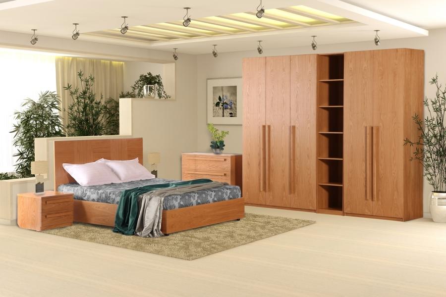 Пенал «Агнес», широкий, дуб. Спальний гарнітур «Агнес».