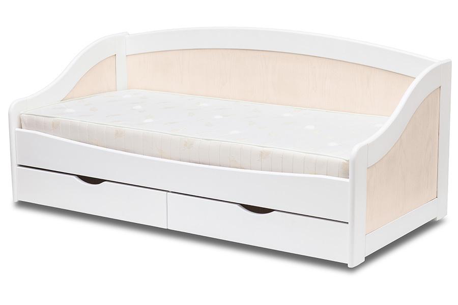 Ліжко з дерева «Оскар», 80х190 см, шпон бук