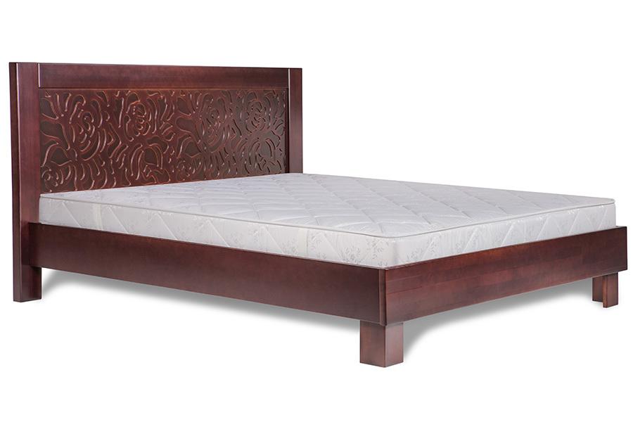 Ліжко з дерева «Марго», 160х200 (190) см, темна
