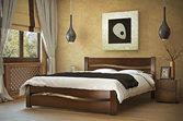 Кровать из дерева «София», 160х200 (190) см, темная