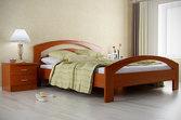 Кровать из дерева «Кристина», 160х200 (190) см, темная