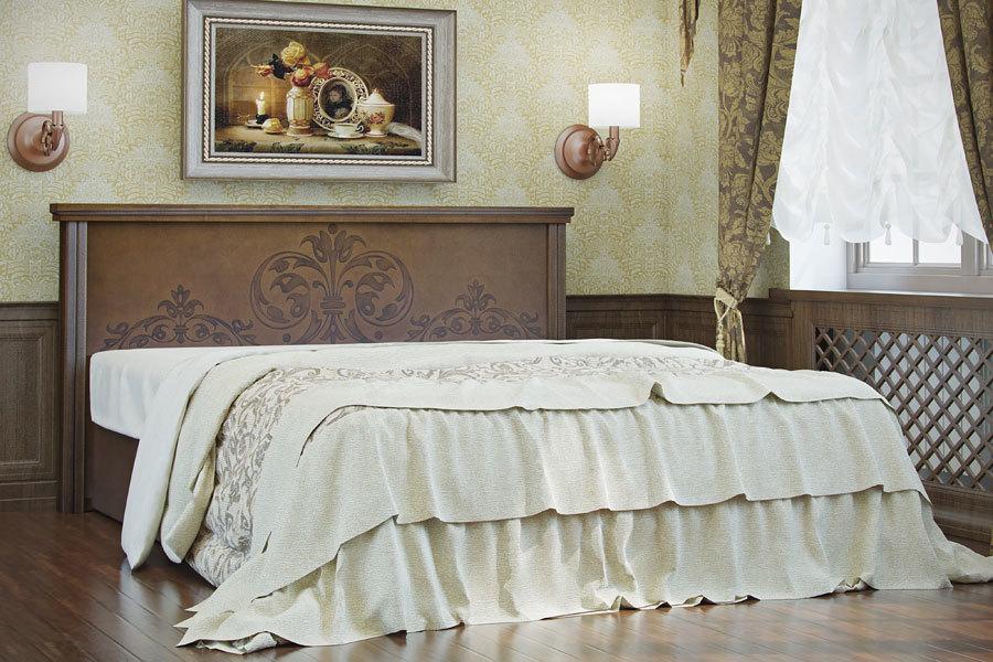 Ліжко з дерева «Естер», 160х200 см, темне