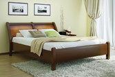 Кровать из дерева «Лаура», 160х200 (190) см, темная