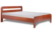 Ліжко з дерева «Смерека», 200х200 см, темне