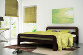 Кровать из дерева «Смерека», 200х200 см, светлая